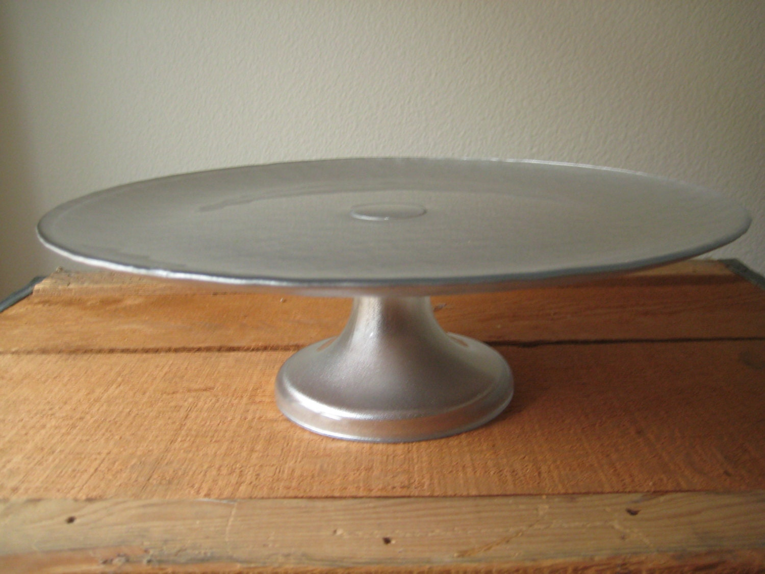 Fantastic Silver Glass Cake Stand Silver Wedding Cake Plate