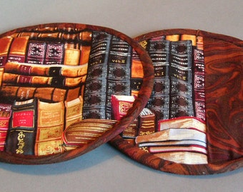 Two Pot Holders - Books