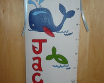 Whale Handpainted Growth Chart