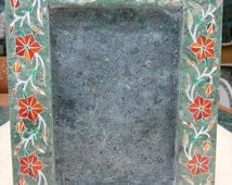 Marble Inlay photo frames / Hand Made stone inlaid picture frame collage