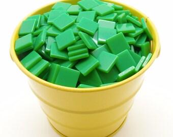 10 mm Opaque Fern Green Mosaic Tiles - Free Shipping