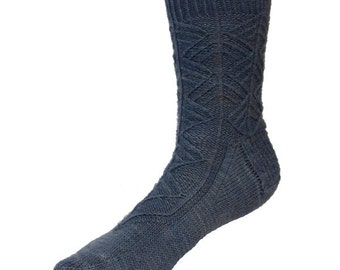 Southwark Spire Socks - PDF knitting pattern