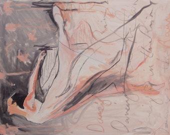 Ballet Dancer, Art Print of original oil painting.