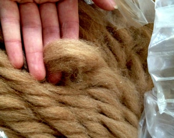 Light Fawn Alpaca Roving - 1 lb