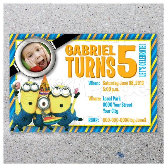 Despicable Me Birthday Invitations was very inspiring ideas you may choose for invitation ideas