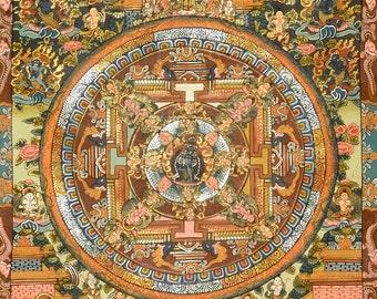 Chakrasamvara mandala (no. 2) - Buddhist Thangka painting from Tibet