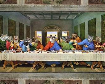 Teh Last Suppr - Photo Print by DVS & da Vinci - Lolcat Last Supper Grumpy Cat Ceiling Cat Meme