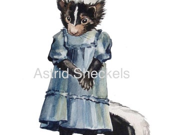 Lucy Skunk (art card)