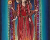 Hecate Goddess of the Crossroads 8x10 Print Pagan Mythology Psychedelic Bohemian Gypsy Witch Goddess Art