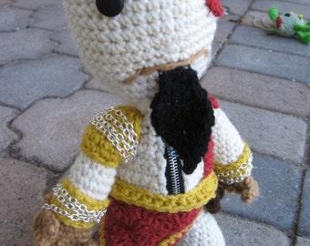 Kratos Sackboy Amigurumi Doll