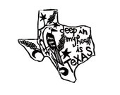 "Texas state linoleum block print with text + state bird and flower - 9""x12"" wall art"