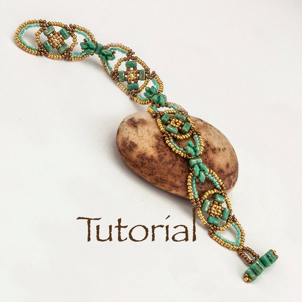 beaded bracelet pattern dogwood digital