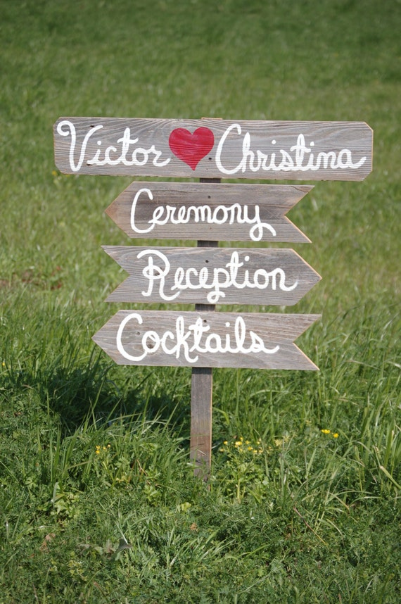 Wedding Signs Rustic And Charming Your Words With Arrows