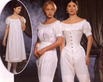 Costume Corset Chemise Drawers undergarments sewing pattern Simplicity 9769 Civil war Undergarments