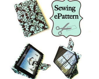 2- PDF Sewing Pattern, Sew Spoiled iPad Mini Folding Case and Travel Case