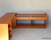 1950s Danish Modern Expandable Vintage Office Teak Partners Desk Westnofa