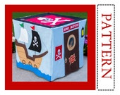 Sewing Pattern, Pirate Adventure Card Table Playhouse, Complete Pattern, Instant PDF Download, You Print at Home