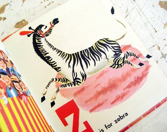 Whitman Circus Alphabet Book, Tell A Tale Childrens Book 1954, Images For A Circus Themed Nursery, EXCELLENT Condition