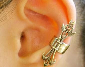 Ear Cuff Quiver and Arrows Ear Cuff Bronze Arrow Earring Non Pierced Earrings Archery Jewelry Cupid Jewelry Arrow Jewelry Boho Earring
