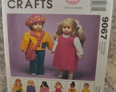 McCall's 9067 - Clothes for Götz, American Girl, EASY to Sew Wardrobe - 18 Inch Dolls - Easy to make - Dress, Jacket, Hat, Etc. - UNCUT