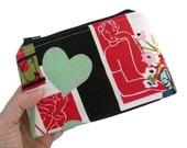 Matisse Zipper Pouch La Vie en Rose Flat Bottom Makeup Cosmetic Bag