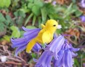 Tiny Canary -- miniature canary plush