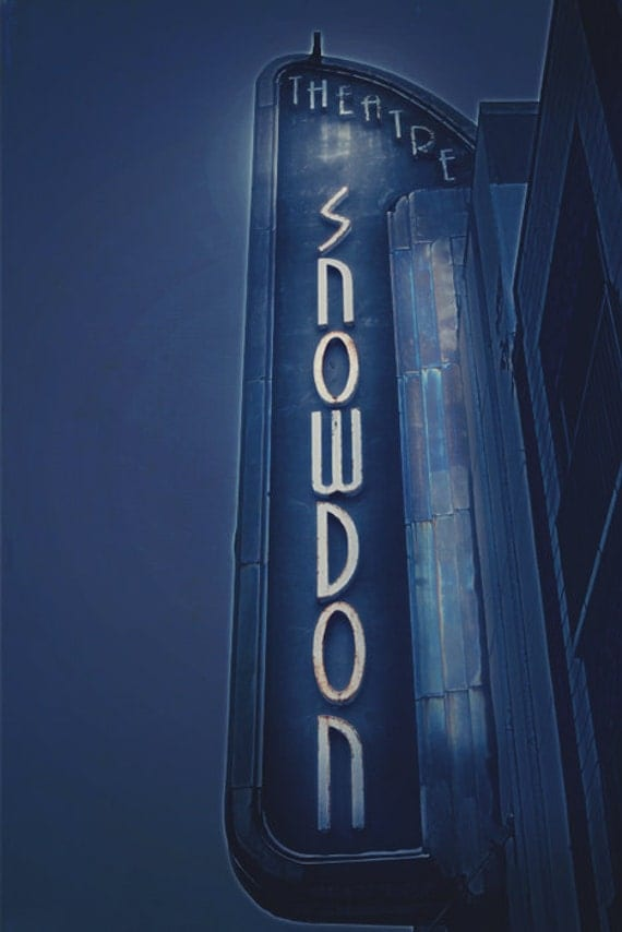 Montreal Art Art Deco Architecture Photography Neon Sign Navy
