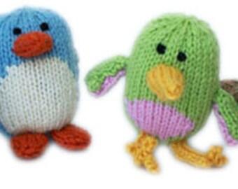 Squeaker Birds PDF Knitting Pattern