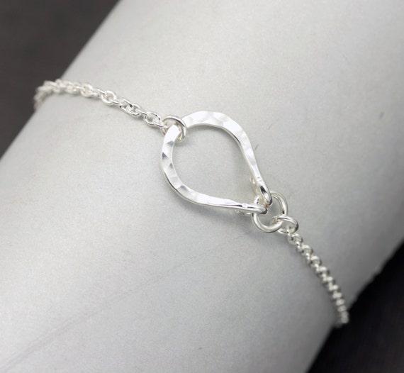 Lucky Bracelet Simple Sterling Silver Bracelet Horse Shoe
