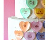 EDIBLE Conversation Hearts - Valentine Cake & Cupcake Decorations - Cake topper