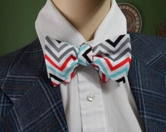 Zig Zag in Red Bow Tie