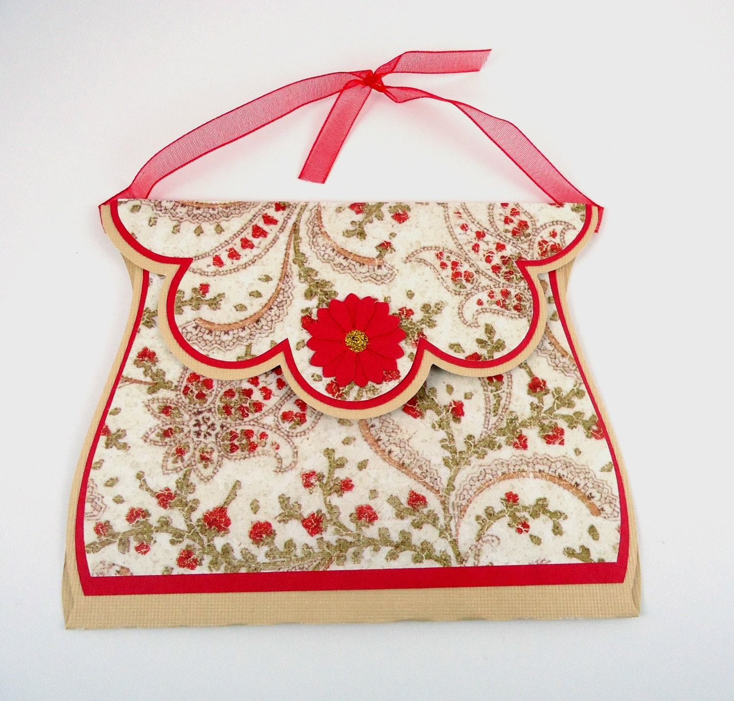 Christmas gift card holder Paper Purse card ornament holiday