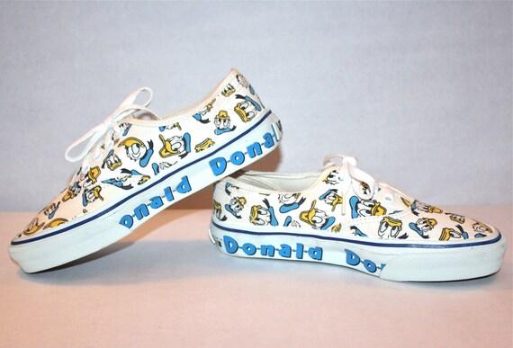 Vintage DONALD DUCK VANS Sneakers Punk Skate Tennis Shoes Size