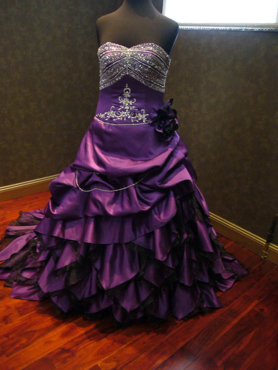 Royal Purple Wedding Dress Alternative Offbeat Custom Made To