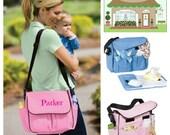 Personalized Diaper Bag, Daycare Bag, Shoulder Bag  Custom Embroidery