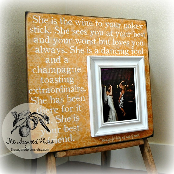 Wedding Gift For Friend Sister : Bridesmaid Gift Best Friend Sister Maid of Honor Personalized Picture ...