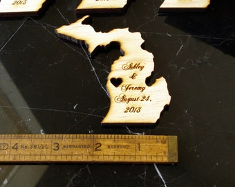 100 Michigan State Wedding Favors Custom Engraved