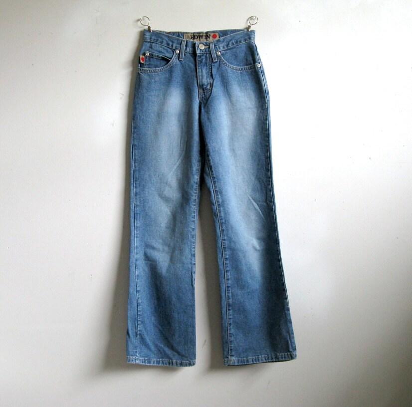 vintage 80er jahre edwin jeans herren baumwoll blue denim. Black Bedroom Furniture Sets. Home Design Ideas