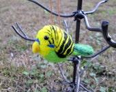 Felted Bird Ornament - Parakeet Christmas Ornament - Animal ornament