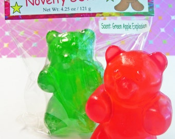 Gummy Bear Bath Soap Big 3D Bar Handcrafted Scented Glycerin Novelty Fake Candy