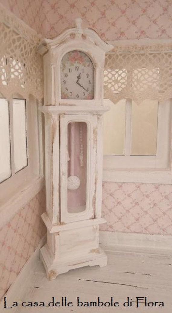 Shabby Grandfather Clock 1 12 Dolls House By Floradollhouse