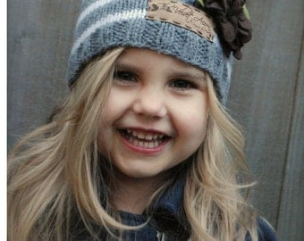 Knitting PATTERN-The Rivine Cloche' (Toddler, Child, Adult sizes)