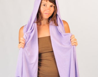 Lavender Scarf - Unisex - Organic Cotton Hemp Jersey  - Eco Friendly - Organic Clothing - Orchid