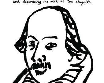 William Shakespeare Poster Print In Trouble At School Great Writer Playwright Literary Print