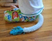Turquoise Monster Tail - Furry with a Tassel