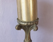 Vintage mesh shade table lamp, baroque gothic decor, metal lamp, brass finish, bedroom lamp, Pittsburgh
