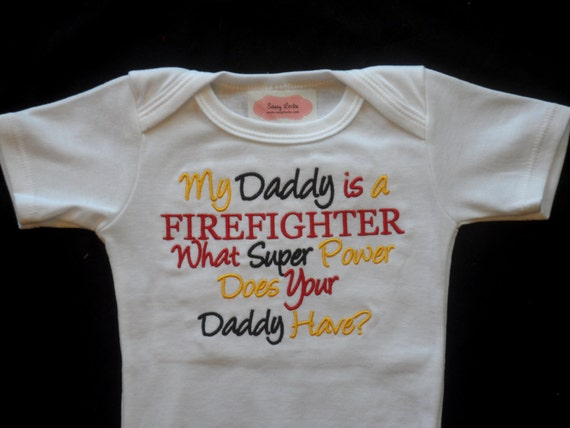 Firefighter Baby Boy Clothes Baby Grirl Clothes Bodysuit My