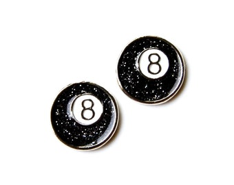8 Ball Cufflinks - Gifts for Men - Anniversary Gift - Handmade - Gift Box Included
