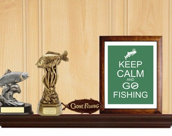Keep Calm and Go Fishing, Gift for Dad, Father's Day Gift, Fisherman Gift,