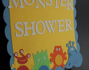 Monster Door Sign, Monster Baby Shower, Baby Bash, Monster Birthday, Welcome Sign